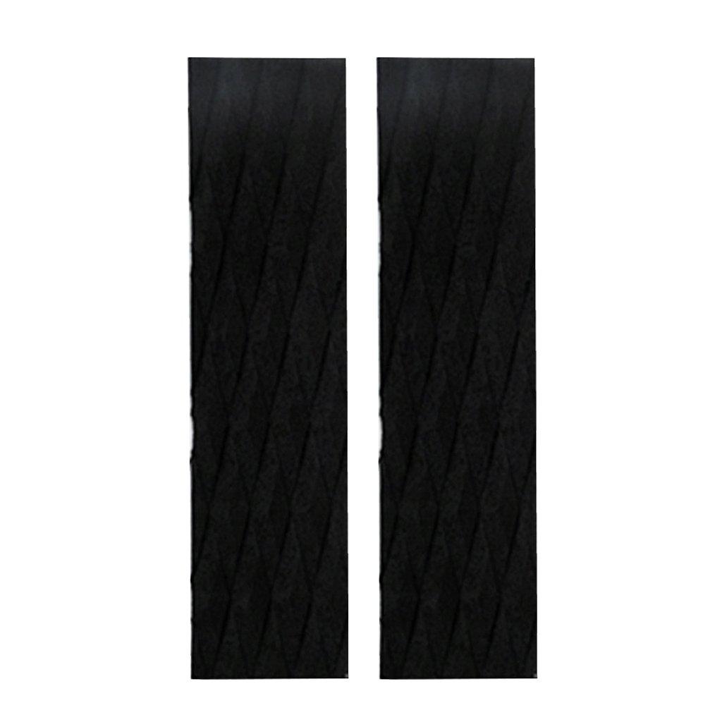 homyl 2ピース/セット接着剤Eva Traction Pad – Stompサーフボードデッキパッドテールパッドサーフィンのバーグリップシート、、Shortboard、Longboard、Skimboard、Supアクセサリー – ブラック/ブルー/オレンジ 35x10cm ブラック B078XPLVZY