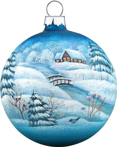 """G. Debrekht Winter Village Glass Ball Ornament, 3.5"""" for sale  Delivered anywhere in USA"""