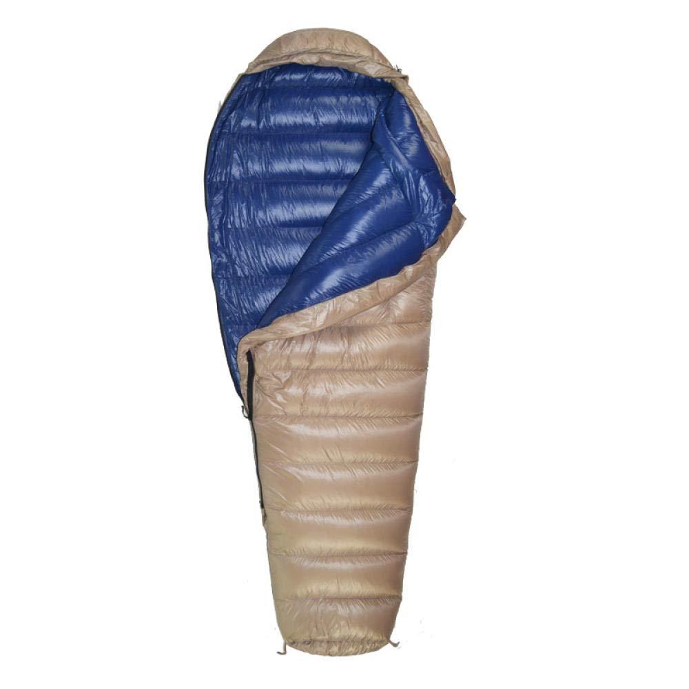 Bleu kaki 600 grammes FFJJQAN Sacs de Couchage rectangulaires Voyage de Camping Chaud en Basse Saison, Orange tibétaine orthographiée 600 grammes Sac de Couchage sarcophage ultraléger