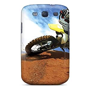Richard-cases Case Cover Protector Specially Made For Galaxy S3 Crazy Motocross Bike