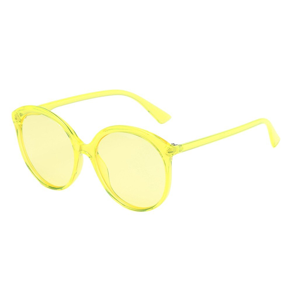 ♔IAMUP Women Man Fashion Vintage Round Frame Sunglasses Women Men Retro Travel Casual Outdoor Summer Eyewear