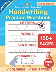 Trace Letters: Alphabet Handwriting Practice workbook for kids: Preschool writing Workbook with Sight words fo