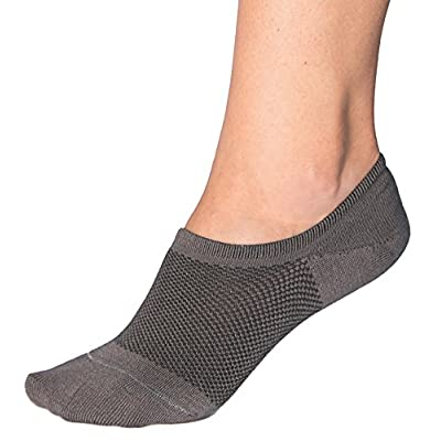 Bam&bü Women's Premium Bamboo No Show Casual Socks - 3 or 4 pair pack - Non-Slip at Women's Clothing store
