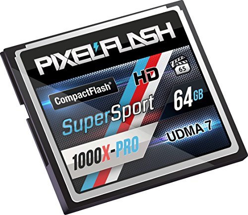 PixelFlash 64 GB SuperSport CompactFlash Memory Card 1106X Pro Fast Transfer Speeds up to 167MB/s for Photo and Video Storage by PixelFlash (Image #1)