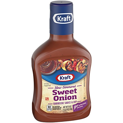 Kraft Barbecue Slow Simmered Sweet Onion Sauce & Dip, 18 Oun