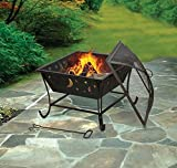 Luna Wood Burning Outdoor Camping Patio Fireplace Firebowl Yard furniture ..#from-by#_cfnsales, #UGEIO105222223686316