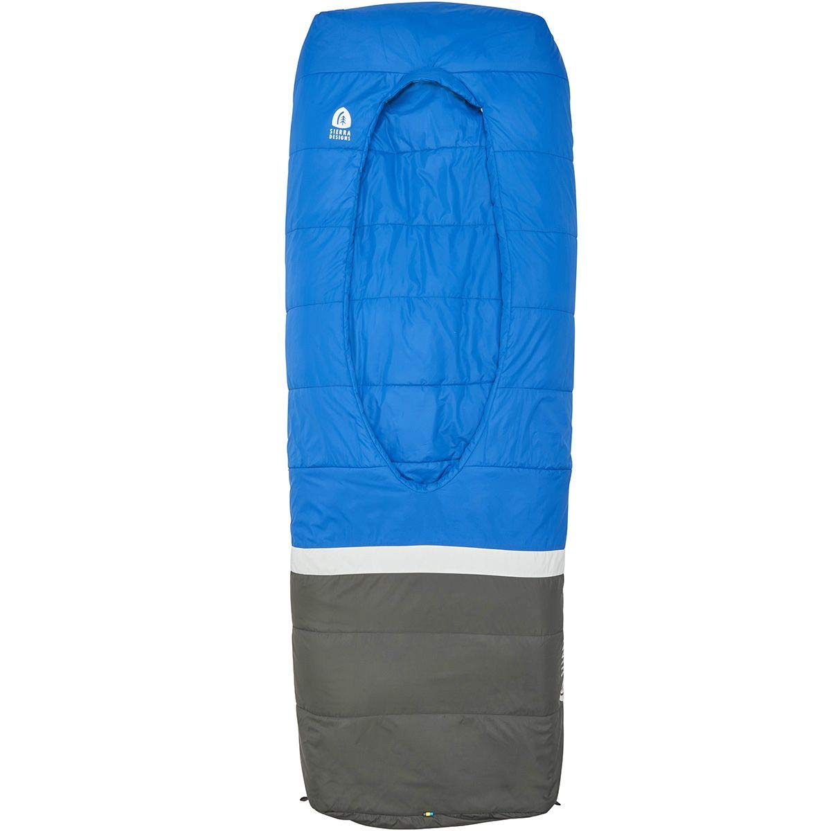 Sierra Designs Frontcountry Bed 35 Degree Synthetic Blue Grey Sleeping Bag Queen Duo