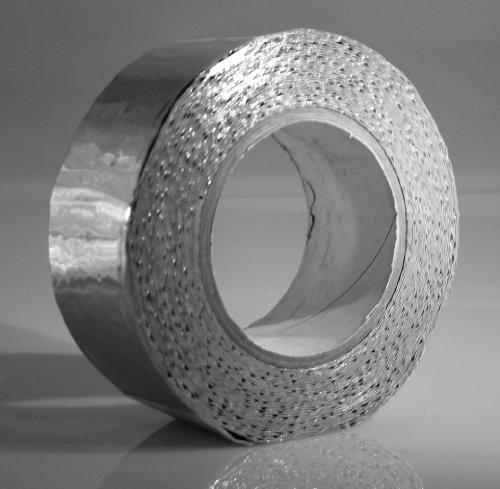Butyl Kaltschrumpf Klebeband von Klimapartner 50 mm x 10 m | UV-beständig | Hochwertige Premium Qualität für Profis | Extra stark klebend | alu farben