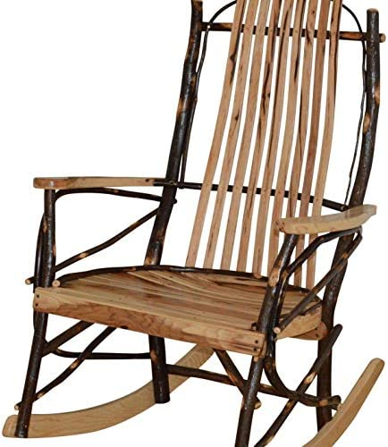 A L Furniture Co. Amish Bentwood Hickory 9-Slat Rocking Chair