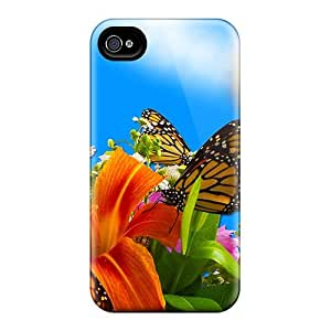 Iphone 4/4s Cover Case - Eco-friendly Packaging(summer Flowers) by Maris's Diary