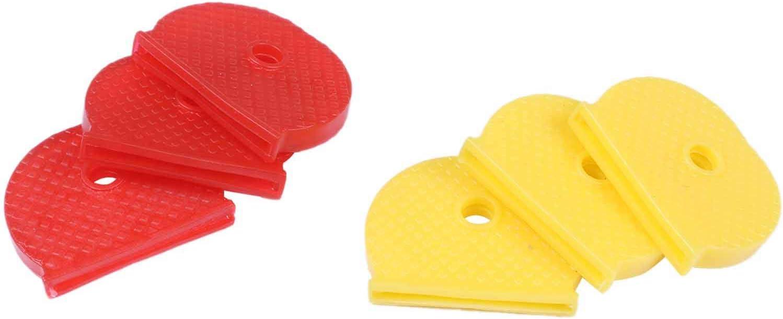 Yebobo 24 Cappucci Chiave con Copertura Chiave Flessibile per Una Facile Identificazione delle Chiavi della Porta Multicolore
