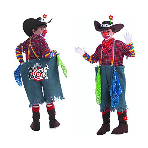 Child Size Rodeo Clown - Bull's Eye Costume - Child's Medium fits Sizes 8-10