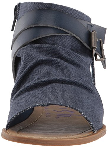 Indigo M Canvas Mushroom US Pu Birch Sandal 6 B Women's Rancher Balla Wedge Dyecut Blowfish ZxTq67Yw0
