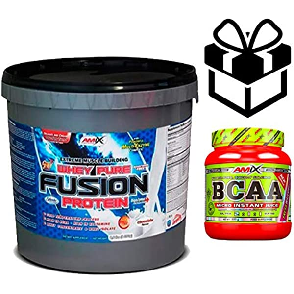 Amix Whey Pure Fusion 4 kg Chocolate + Bcaa Instant + ...