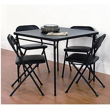 Excellent Mainstays 5 Piece Card Table And Chair Set Black Spiritservingveterans Wood Chair Design Ideas Spiritservingveteransorg
