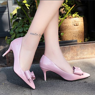 ggx Pumps Grau Normal High PU Walking Hochzeit Party Pumps StöckelabsatzSchwarz amp; Lackleder Sommer Rosa Heels Rot Damen black LvYuan Festivität Kleid dqInpwAd