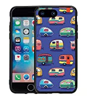 Vintage Camper Print On Blue For Iphone 7 Plus (2016) & Iphone 8 Plus (2017) (5.5) Case Cover By Atomic Market