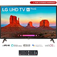 LG 43UK6300 (43UK6300PUE) 43 UK6300 Smart 4K UHD TV (2018) w/Extended Warranty