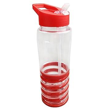 Cutowin - Botella de Agua de 650 ML con Pajita de plástico para Bebidas y zumos