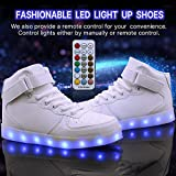 WONZOM LED Light Up Shoes USB Flashing Sneakers for Toddler/Kids
