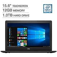 2018 Newest Dell Inspiron 15.6 Full HD IPS Touchscreen Laptop, Intel Quad-Core i5-8250U up to 3.4GHz 12GB DDR4 1TB HDD DVDRW MaxxAudio Pro 802.11ac Bluetooth Backlit Keyboard, Win 10 - Black