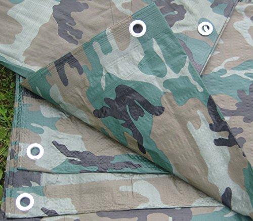 8' Camo (Camouflage/Green Tarp, 6'x8')