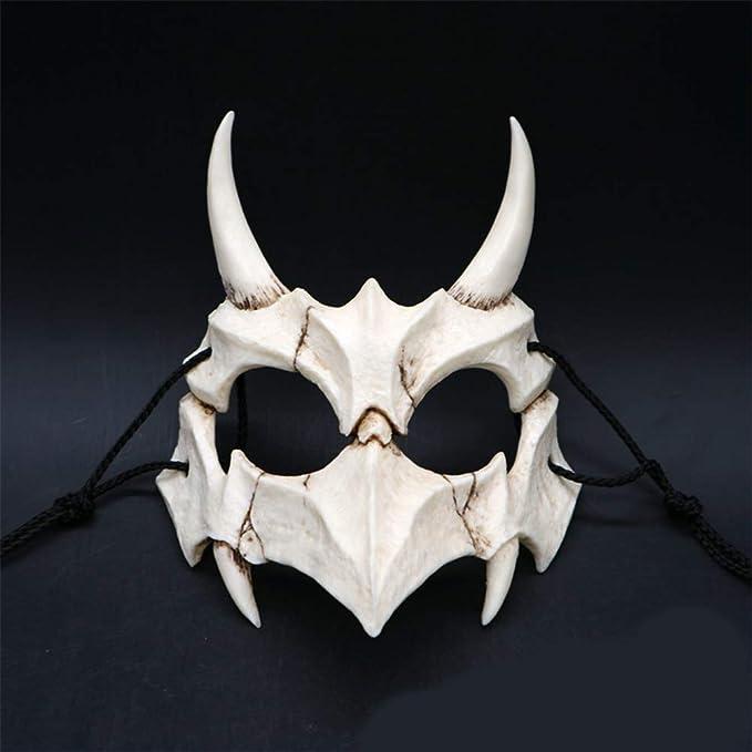 RONSHIN Mask for Halloween, Japanese Gods Style Deluxe Resin Ninja Mask Prom Performance Art Mask