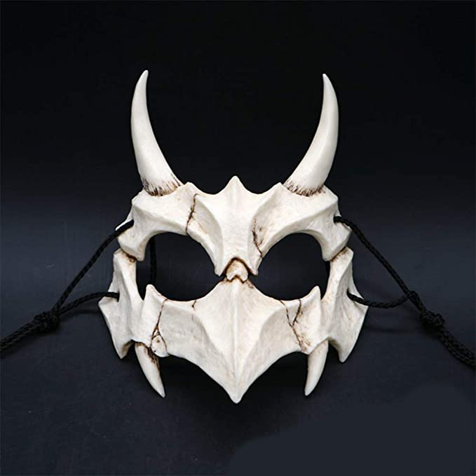 RONSHIN Mask for Halloween, Japanese Gods Style Deluxe Resin Ninja Mask Prom Performance Art Mask