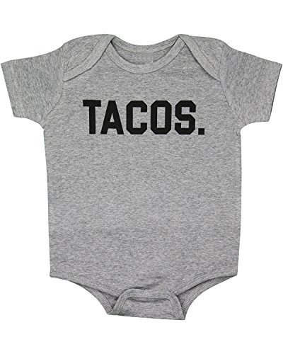 Taco Suits - Heather Gray Tacos Period Baby Bodysuit 6M
