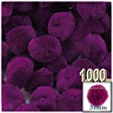 The Crafts Outlet 1,000-Piece Multi purpose Pom Poms, Acrylic, 51mm/about 2.0-inch, round, Fuchsia