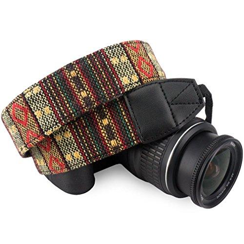Wolven Pattern Canvas Camera Neck Shoulder Strap Belt for Al