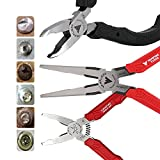 VamPLIERS. World's Best Pliers! 3-PC Set S3D Patented Specialty Screw Extractions Pliers. Extract Stripped Stuck Security, Corroded or Rusted Screws/Nuts/Bolts