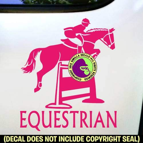 Horse Rider Show Vinyl Decal Sticker C EQUESTRIAN Hunter Jumper #2