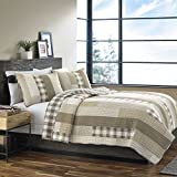 Eddie Bauer Fairview Cotton Quilt Set, Full/Queen, Sand