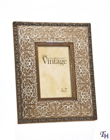 Philip Whitney 5x7 Rugged Vintage Wooden Gold Scroll Picture