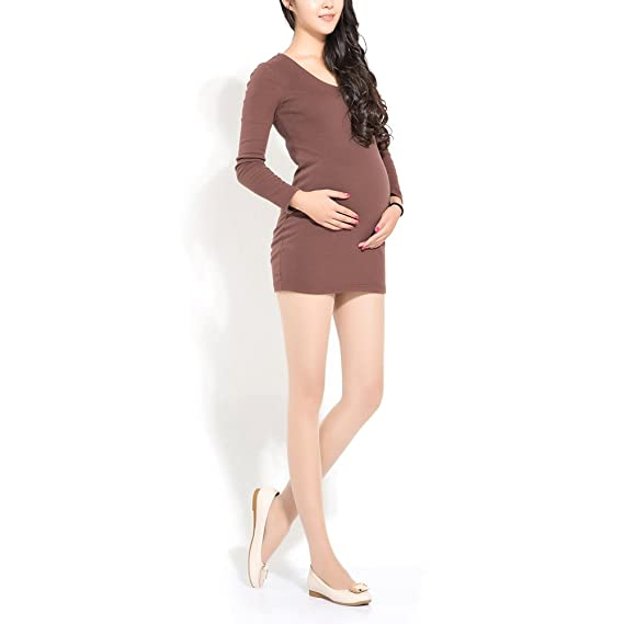 Samber Medias de Compresión para Mujer Embarazada Ayuda del Soporte del Vientre para Verano y Otoño