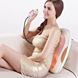 "SKG Versatile Deep Shiatsu Kneading Back Massager with Heat (19.5"" x 14.5"" x 4"" Large, 7 lbs, 12 Nodes) - Shiatsu Foot Waist Massager - Office Home Massage Cushion Chair - Back Pain Relief Machine"