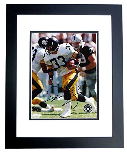 e86fc04df5b Image Unavailable. Image not available for. Color  Merrill Hoge Signed - Autographed  Pittsburgh Steelers 8x10 inch Photo BLACK CUSTOM FRAME