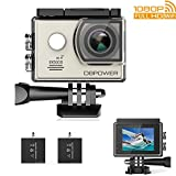 DBPOWER EX5000 Action Camera , 14MP 1080P HD WiFi Waterproof Sports Cam 2 Inch LCD Screen , 170 Degree Wide Angle Lens , 98ft Underwater DV Camcorder With 16 Accessories Kits (C-Sports action camera)