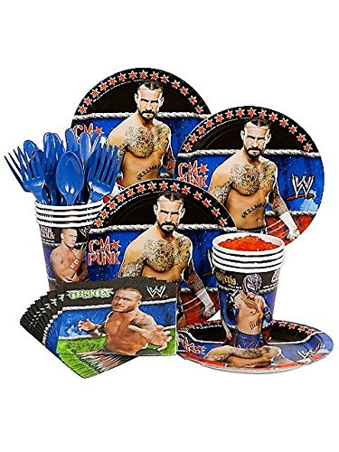 [Costume Supercenter BB101430 Wwe Party Standard Kit Serves 8 Guests] (Wwe Girl Costumes)
