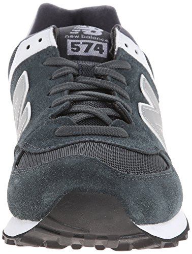 888546369214 - New Balance Men's ML574 Picnic Pack Collection Classic Running Shoe, Dark Grey/Silver, 7 D US carousel main 3