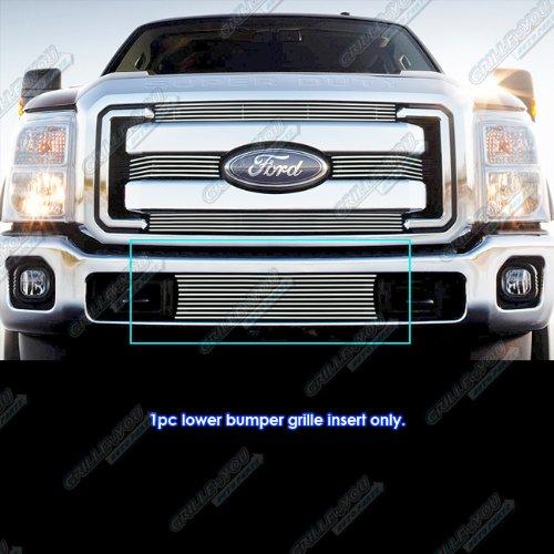 For 2011-2016 Ford F-250/F-350 Super Duty Bumper Billet Grille Insert #N19-A92866F (F250 Grille Billet Bumper)