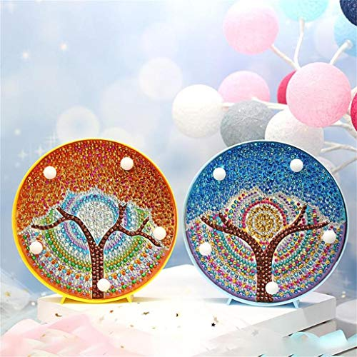 Gotian DIY Diamond Painting Light Embroidery Full Dedicated Diamond LED Light, Match Different Decoration Style, Perfect to Decorate Your Living Room and Bedroom (Orange)