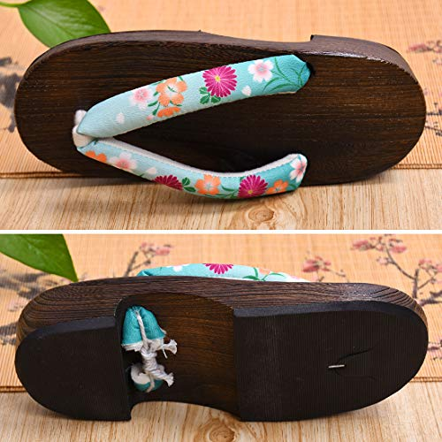 Japan Women's Sandals Jiyaru Slippers Flip Geta 2 Flops Wooden IPqCCw7