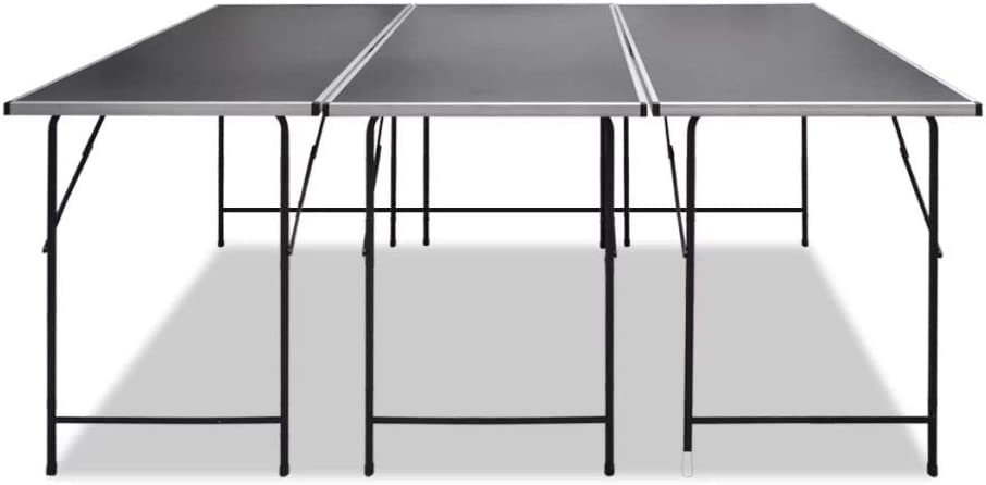 MDF Tabletop and Iron Legs yorten Pasting Tables 3 piece Foldable