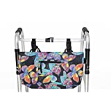 RMS Tote  for Walker, Rollator or Scooter, Water Resistant, Vivid Butterfly Design