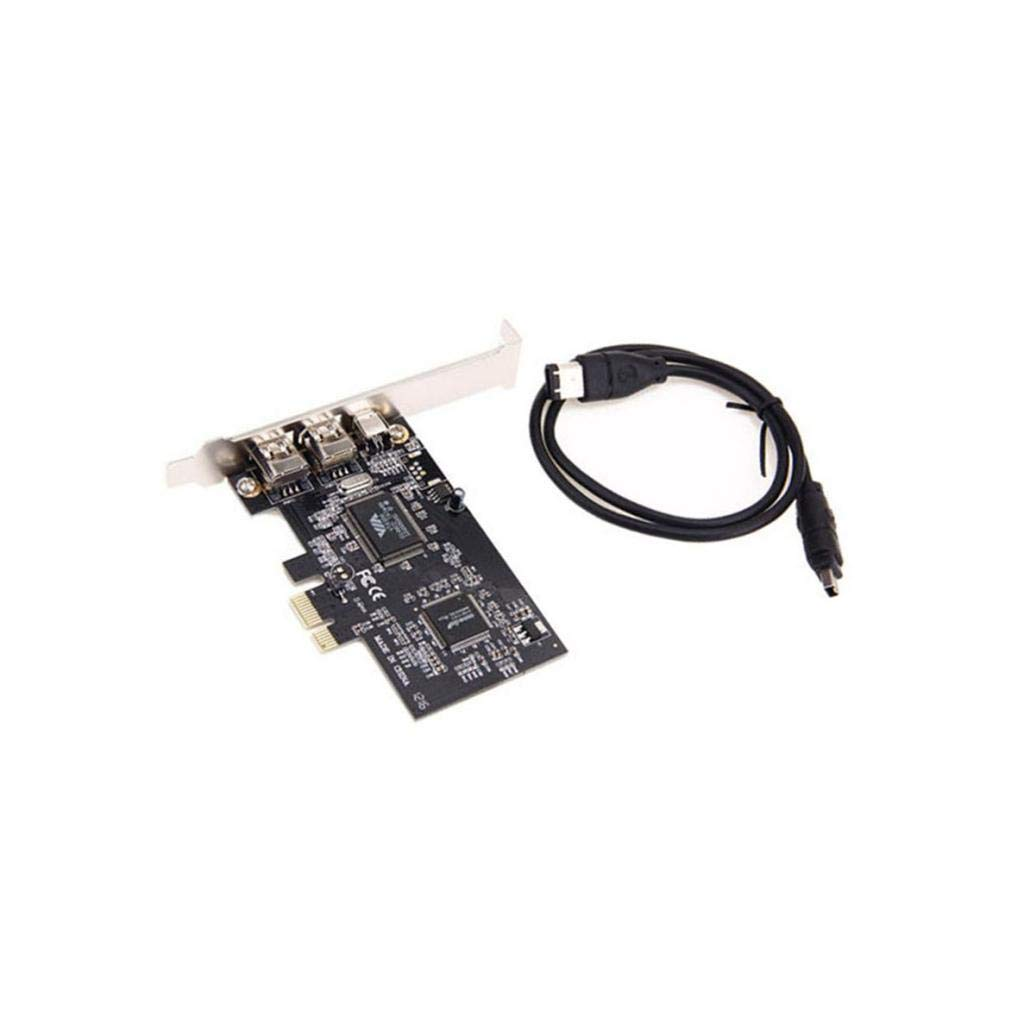 B Baosity PCIe - Tarjeta de expansión de 3 Puertos 1394A ...
