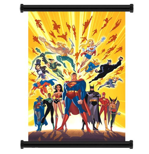 Wall Scrolls Justice League Comic Fabric Poster (32 x 45) Inches (Justice League Fabric Poster)