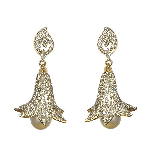 Pourni Exclusive Designer Pearl & American Diamond Earring For Women by Pourni
