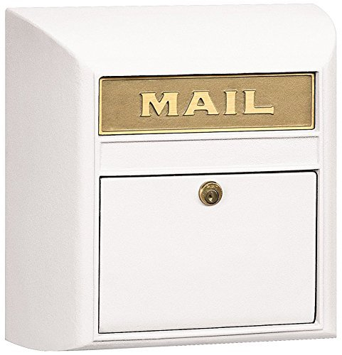 Salsbury Industries 4150P-WHT Plain Door Modern Mailbox, White by Salsbury Industries - Mailbox White Plain Door